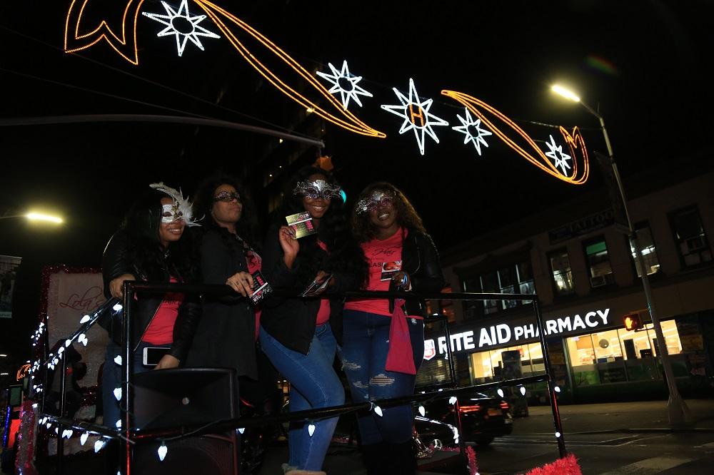 New York, November 17, 2016 - Harlem Holiday Lights 2016.